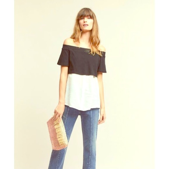 db9e9aa170d4fc Anthropologie Tops - Anthropologie layered off the shoulder tunic